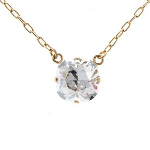 Catherine Popesco Single Stone Crystal Necklace